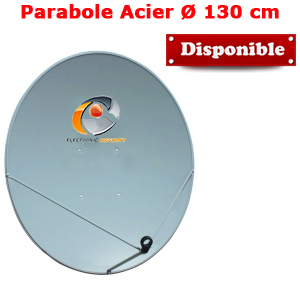 Parabole en Acier galvanisé 130 cm (135 x 120 cm) Gris clair