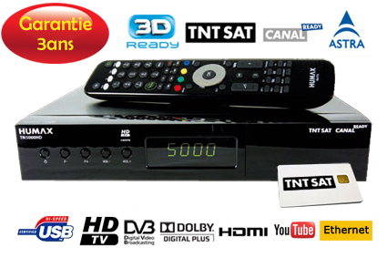 TNT satellite double tuner HUMAX TN 5000 HD 3D