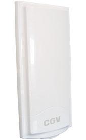 Antenne exterieure TNT et TNT HD pour fenêtre ou balcon - 40dB - protection contre 4G LTE
