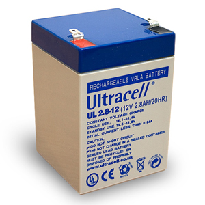 Batterie accumulateur pile rechargeable - 12v 2.8ah - plomb gel etanche - (67x66x104mm)