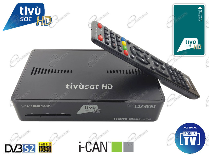 DECODEUR DIGITAL SATELLITE TIVUSAT I-CAN S490 HD
