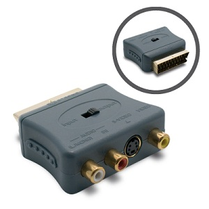 Adaptateur peritel male 3x RCA fem + 1 S-video (Y/C) fem - METRONIC