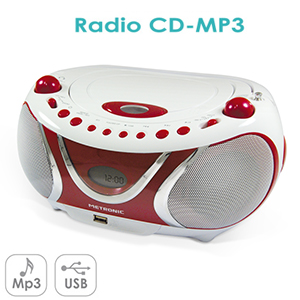 Radio CD-MP3 Cherry - Port USB - Fonction ID3 Tag - METRONIC