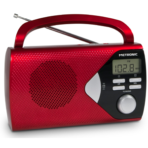 radio portable avec afficheur num rique metronic. Black Bedroom Furniture Sets. Home Design Ideas