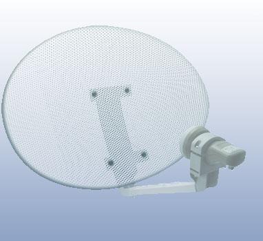 antenne parabolique elliptique en Acier perfore 50cm (52 x 40cm)  avec LNB universel - METRONIC