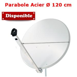 Parabole en acier 120 cm (120.4 x 111.2 cm) - Gris Clair - Faval