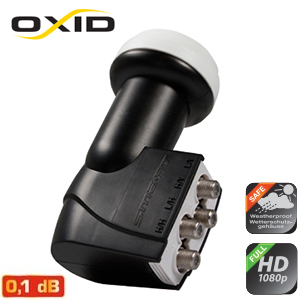 LNB Quattro 0.1 dB - 40 mm - Smart OXID