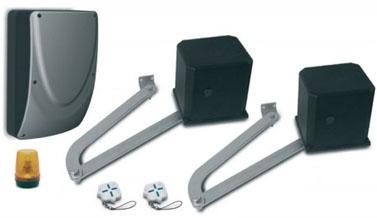 Kit motorisation pour portail battants 12 v longueur for Motorisation portail battant ouverture exterieure