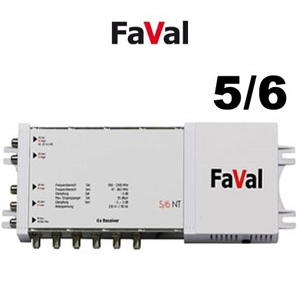 Multiswitch 5/6 NT Faval ou Golden interstar - 5 entrées / 6 sorties