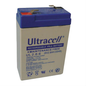 Batterie rechargeable accumulateur- 6v 2.8ah - plomb gel etanche - (66x33x104mm)