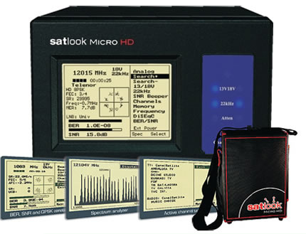 Mesureur de champ Satellite Haute Definition Emitor Satlook Micro HD