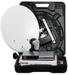 Kit Camping-car : Terminal numérique Faval S 200 CI V12 + Parabole en acier 35 cm + 1 LNB Single 0.2 dB
