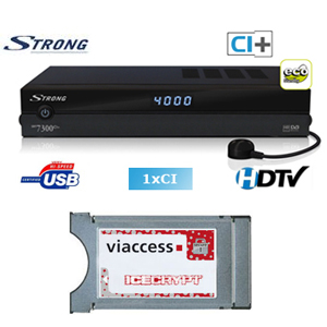Strong satellite receiver avec module viaccess