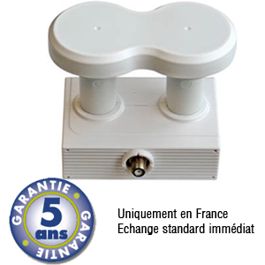 LNB Monobloc 4.3°  Single 0.1 dB - 23mm - Best Germany - 5 ans de garantie