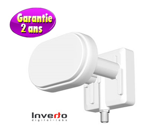 LNB Monobloc 3° Single 0.2 dB - Inverto Black Pro - 60mm - 2 ans de garantie