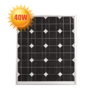 panneau solaire haut rendement 40 watts 12 volts. Black Bedroom Furniture Sets. Home Design Ideas