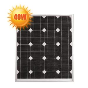panneau solaire haut rendement 40 watts 12 volts. Black Bedroom Furniture Sets. Home Design Ideas