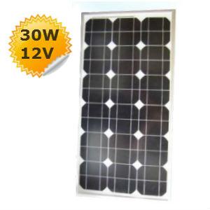 panneau solaire 30w 12v monocristallin. Black Bedroom Furniture Sets. Home Design Ideas