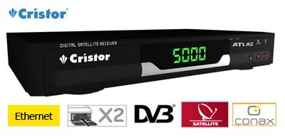 cristor atlas-e - terminal numerique avec 2 x lecteurs de cartes conax et x-crypt - ethernet
