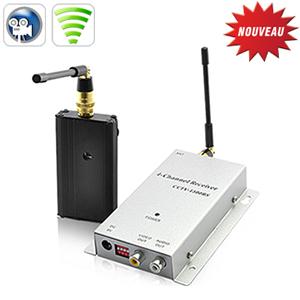 Amplificateur de signal sans fil emetteur r cepteur a v 1 2 ghz 4 canaux 1000mw port e - Emetteur recepteur tv ...