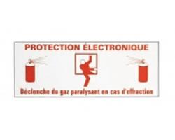 Signalisation etiquette Gaz