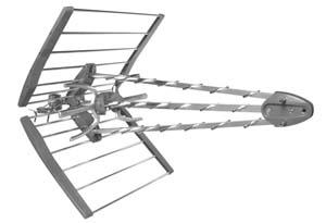 Antenne exterieure UHF Triple-Boom FLASHD - 17,5 dB