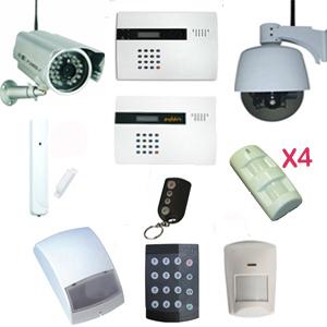 Pack alarme sans fil 1 centrale 1 d tecteur de mouvement - Detecteur de mouvement exterieur sans fil ...