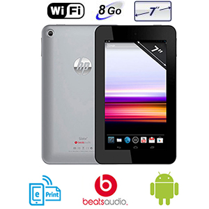 HP Slate 7 '' - Dual Core 1,6 Ghz  - Android 4.1 -  8 Go - Wifi - Argent