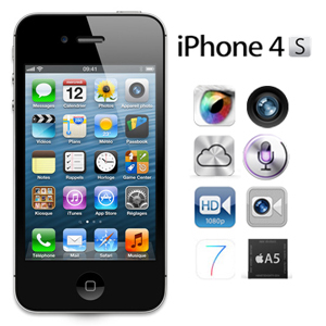 apple iphone 4s 16go d bloqu et compatible avec tout. Black Bedroom Furniture Sets. Home Design Ideas
