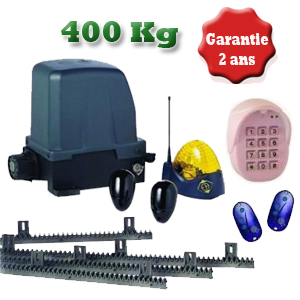 Kit portail coulissant BASIC CL610 – 400Kg 24V - 40 cycles / jour