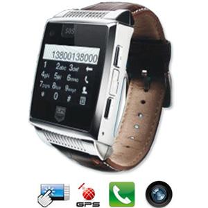 montre t l phone portable avec traceur gps cran tactile appareil photo 1 3 megapixel. Black Bedroom Furniture Sets. Home Design Ideas