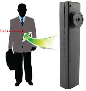 Caméra cachée couleur avec DVR dans un boutton de chemise -  Objectif 3.6mm - 4Go
