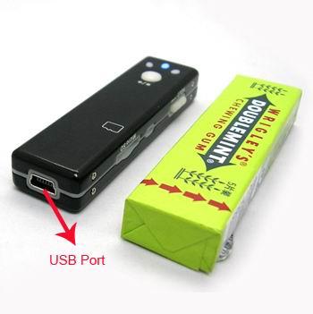 Caméra cachée couleur avec DVR taille paquet chwing-gum - 2GO