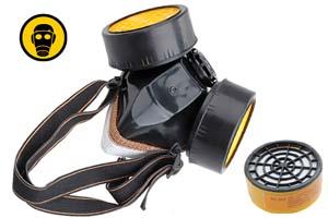 masque de protection gaz pour nez et bouche 2 cartouches pour gaz acides. Black Bedroom Furniture Sets. Home Design Ideas