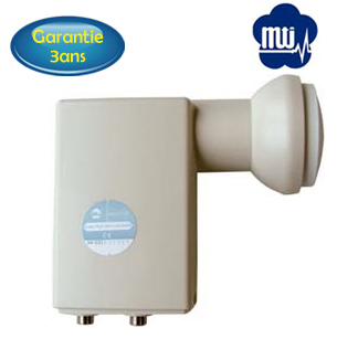 LNB Twin 0,2db - 40mm - MTI - High Line - AP 82 XT2N – 3 ans de garantie