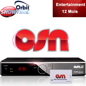 Abonnement Arabe Orbit Showtime Entertainment - 52 chaînes - 12 mois + Décodeur HD Box officiel