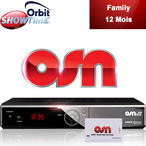 Abonnement Arabe Orbit Showtime FAMILY - 38 chaînes - 12 mois + Décodeur HD Box officiel