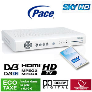 Abonnement Sky Italia HD 1 Bouquet (Sky TV + Cinema) 12 mois via Hotbird 13° E + Sky box HD