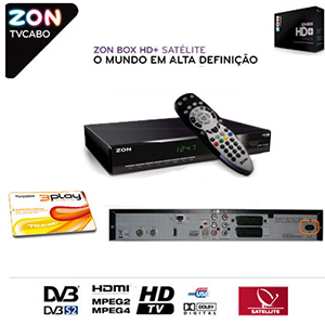 pack portugais tv cabo 12 mois  + terminal num�rique zon digibox hd