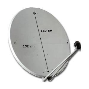 Parabole en aluminium OFFSET Ø 160 cm (160 x 152 cm)