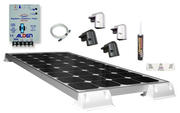 pack panneau solaire 130 w sunpower kiteco alden pour camping car. Black Bedroom Furniture Sets. Home Design Ideas