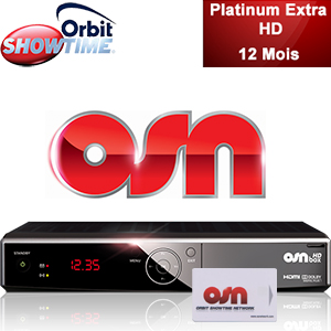 Abonnement Arabe Orbit Showtime Platinum Extra HD - 95 chaînes - 12 mois + Décodeur HD Box officiel