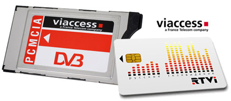 Pack Russe RTVI - 12 mois + Module PCMCIA Neotion Viaccess ACS 3.1