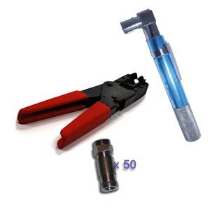 Pack testeur de c ble coaxial pince a compression pour - Testeur de cable ...