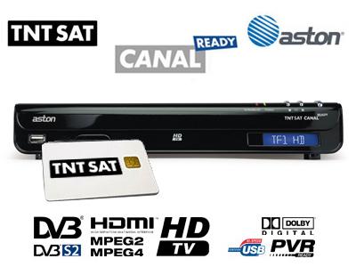 Récepteur numérique Aston Simba HD Premium TNTSAT Canal Ready