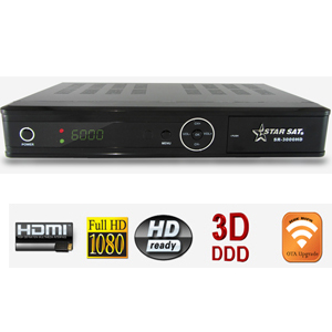 starsat sr 3000 hd - terminal num�rique hd - usb - ethernet + cordon hdmi offert
