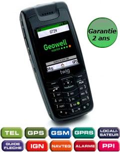 Téléphone professionnel gsm gps Twig Hunter GeoPointer