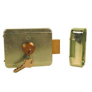 serrure lectrique p ne basculan avec cylindre rond 60 mm m me cl 12v. Black Bedroom Furniture Sets. Home Design Ideas
