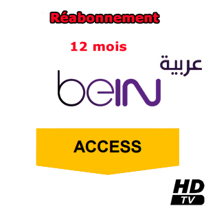Réabonnement beIN Arabia - Access package - 12 mois via ES'HAILSAT 25.5° E / Nilesat 7° W