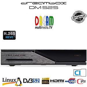 Dreambox DM 525 HD PVR - Terminal numérique HD - 1 x DVB-S2 tuner - Linux E2 - RAM 512 Mo - 1 Lecteur de carte - Slot CI - 2 USB - Ethernet - 1 HDMI - Wi-Fi en option + Cordon HDMI offert